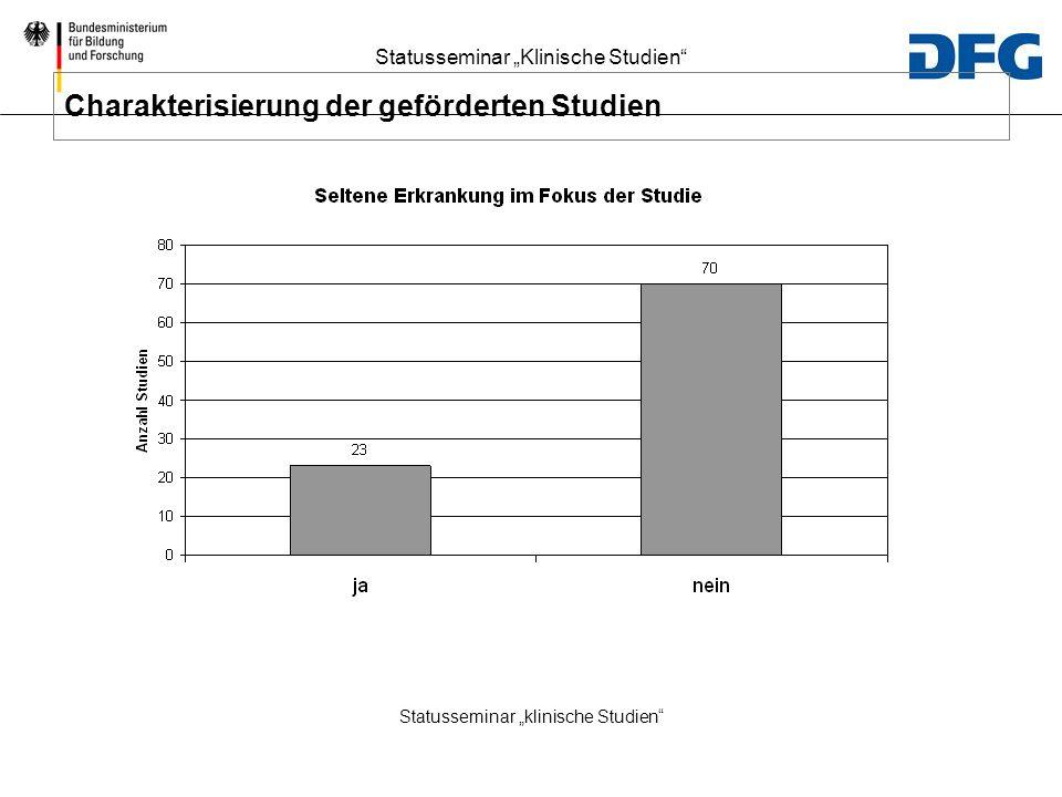 """Statusseminar """"klinische Studien"""