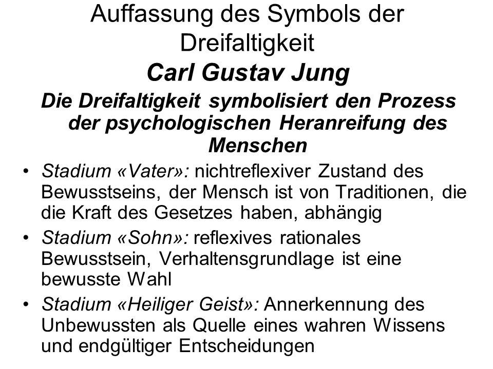 Auffassung des Symbols der Dreifaltigkeit Carl Gustav Jung