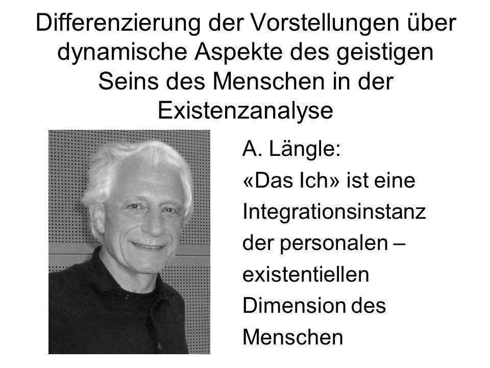 Differenzierung der Vorstellungen über dynamische Aspekte des geistigen Seins des Menschen in der Existenzanalyse