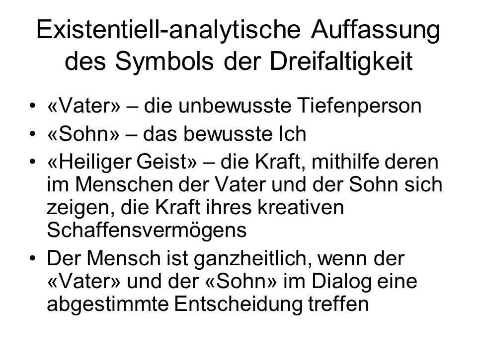 Existentiell-analytische Auffassung des Symbols der Dreifaltigkeit
