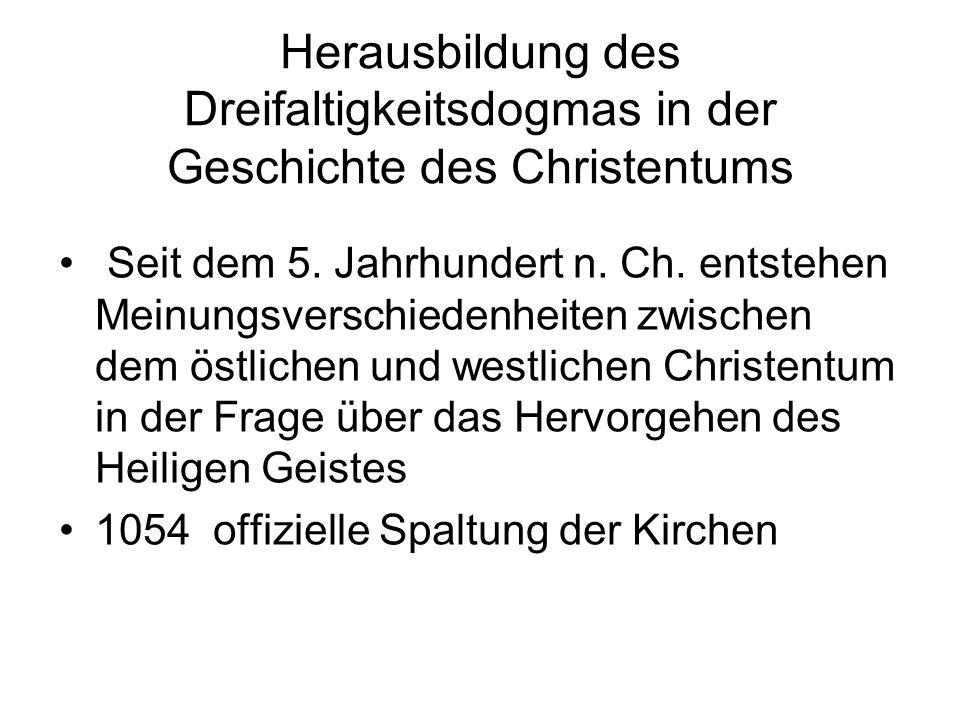 Herausbildung des Dreifaltigkeitsdogmas in der Geschichte des Christentums