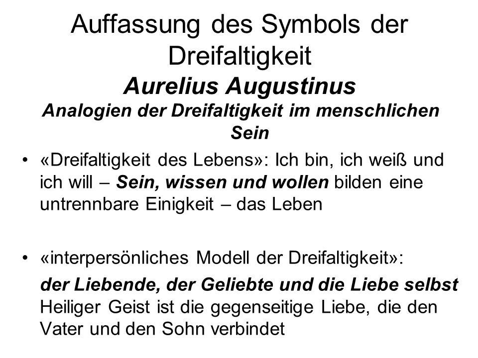 Auffassung des Symbols der Dreifaltigkeit Aurelius Augustinus