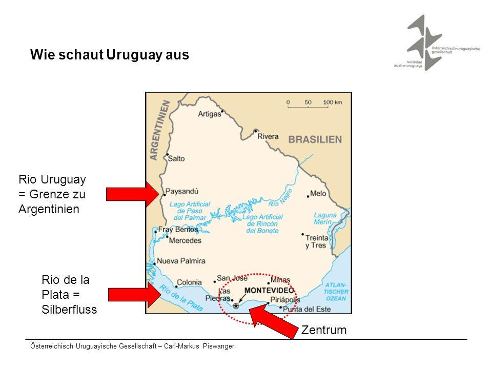 Wie schaut Uruguay aus Rio Uruguay = Grenze zu Argentinien Rio de la