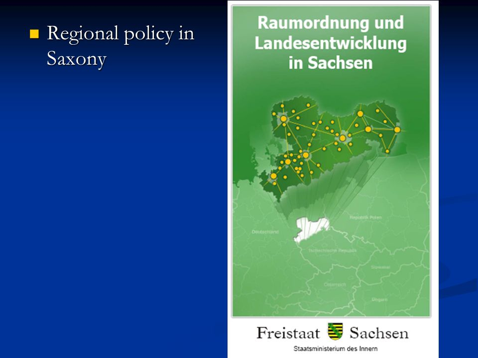 Regional policy in Saxony