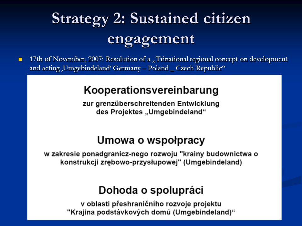 Strategy 2: Sustained citizen engagement