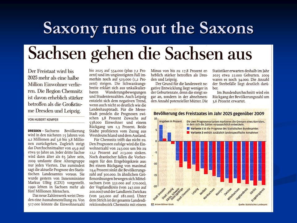 Saxony runs out the Saxons