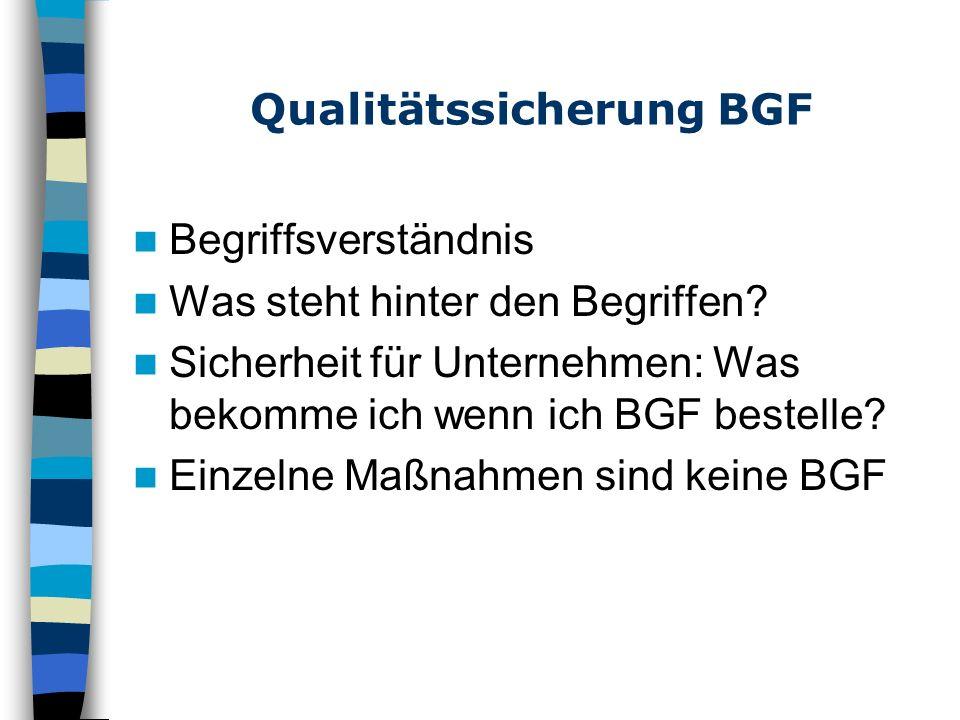 Qualitätssicherung BGF