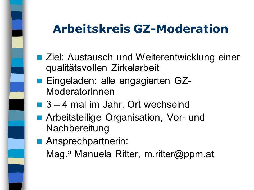 Arbeitskreis GZ-Moderation