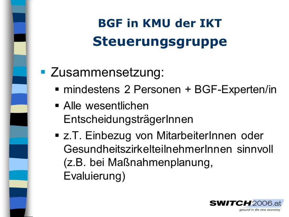 BGF in KMU der IKT Steuerungsgruppe