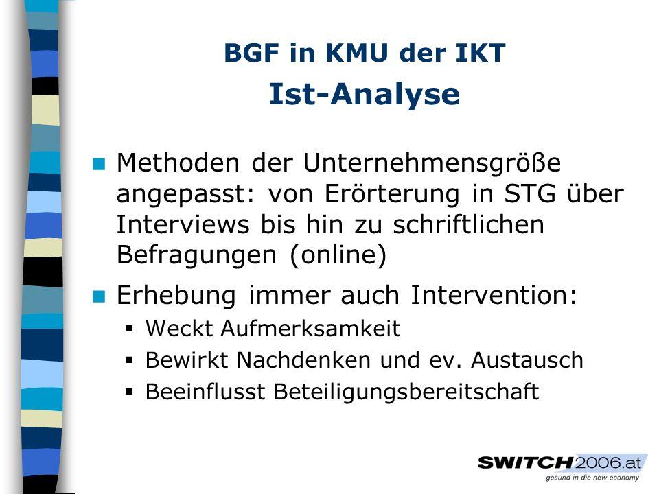 BGF in KMU der IKT Ist-Analyse