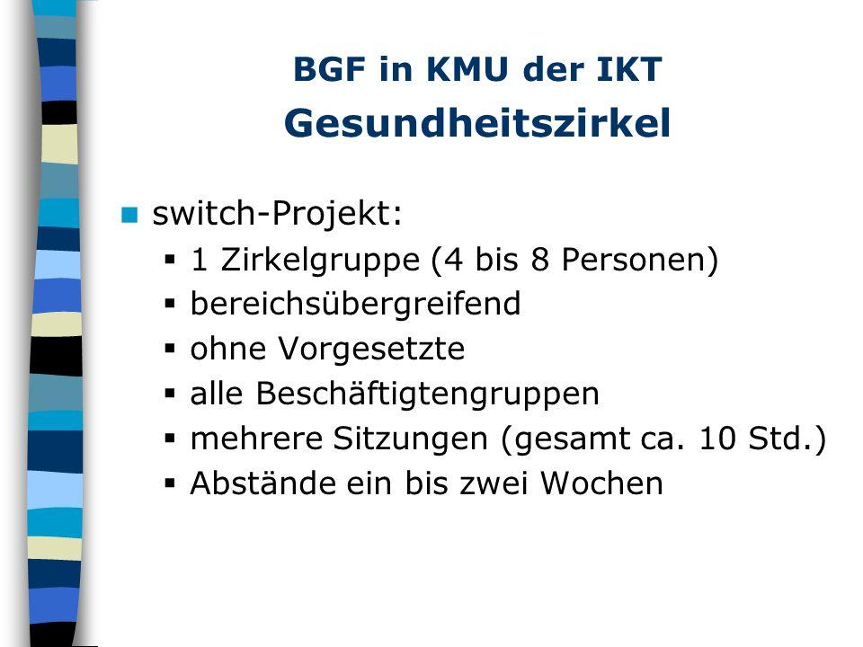 BGF in KMU der IKT Gesundheitszirkel