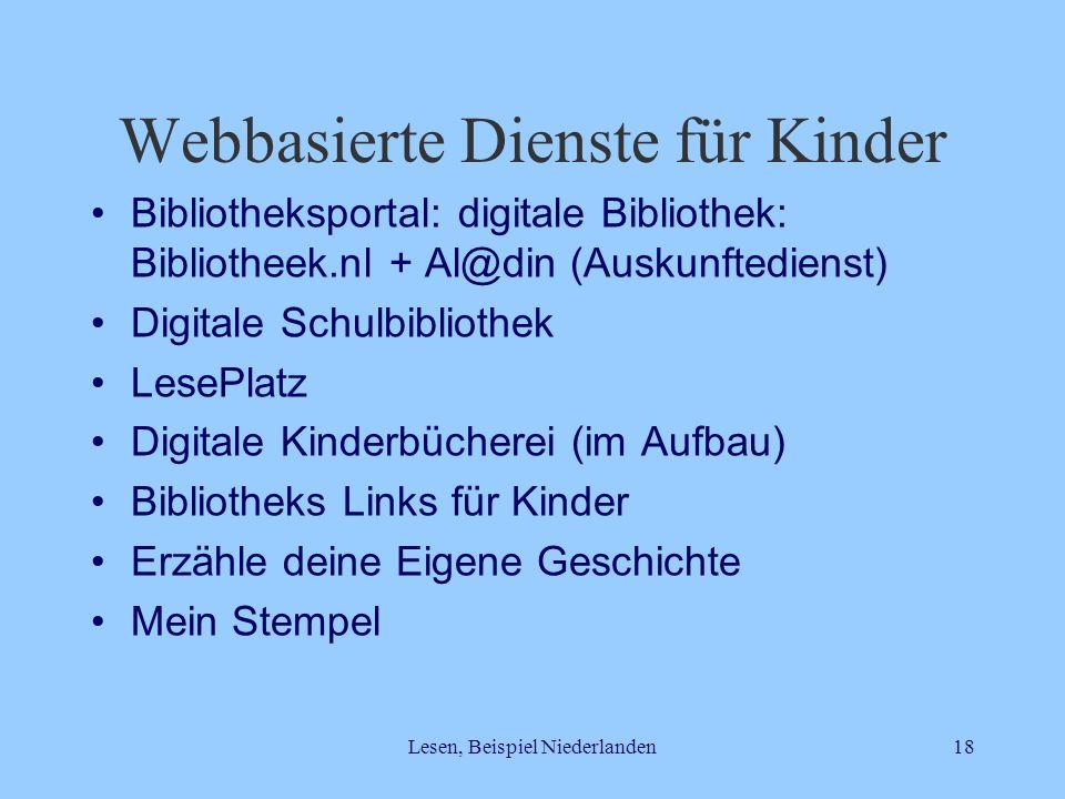 Webbasierte Dienste für Kinder
