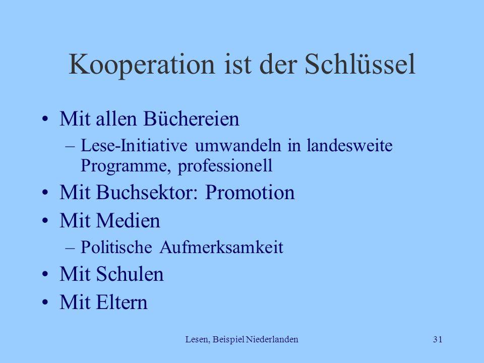 Kooperation ist der Schlüssel