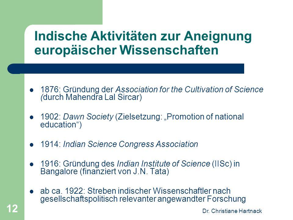 Indische Aktivitäten zur Aneignung europäischer Wissenschaften