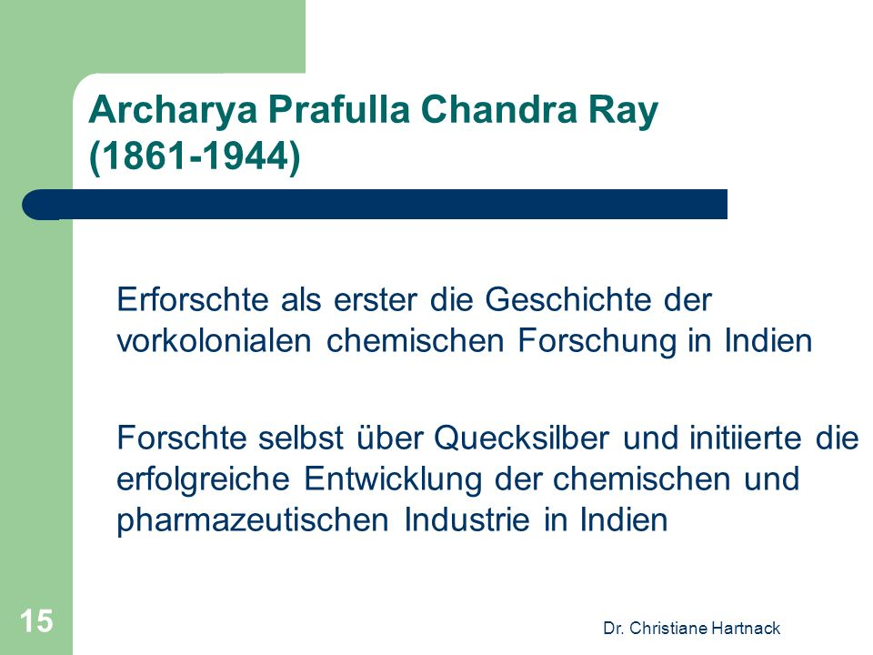 Archarya Prafulla Chandra Ray (1861-1944)
