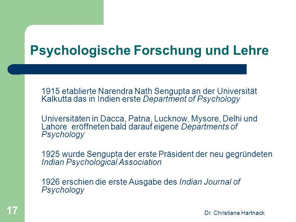 Psychologische Forschung und Lehre