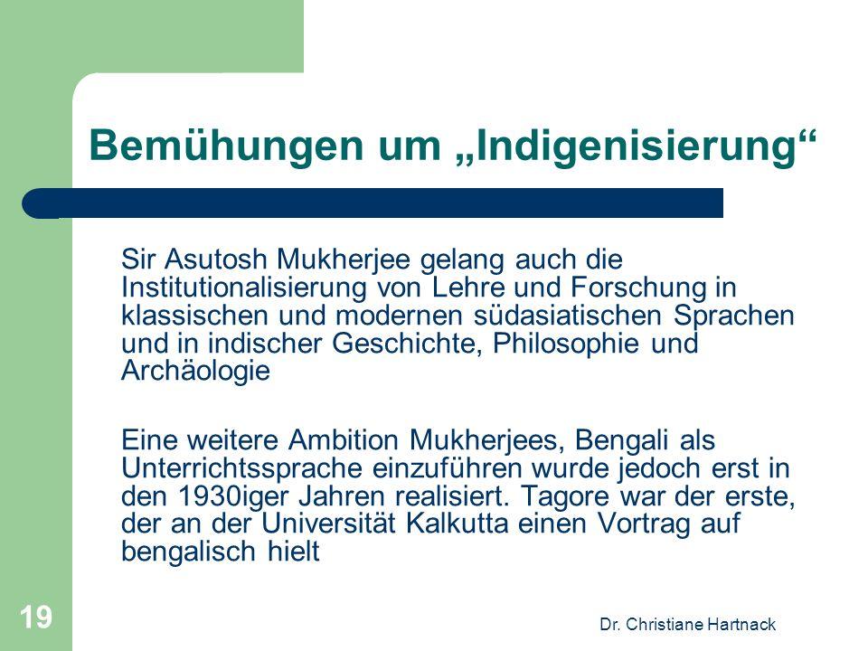 """Bemühungen um """"Indigenisierung"""