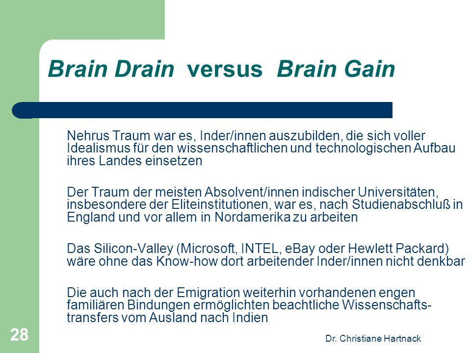 Brain Drain versus Brain Gain