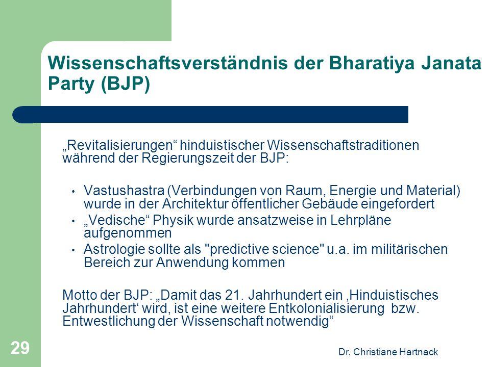 Wissenschaftsverständnis der Bharatiya Janata Party (BJP)
