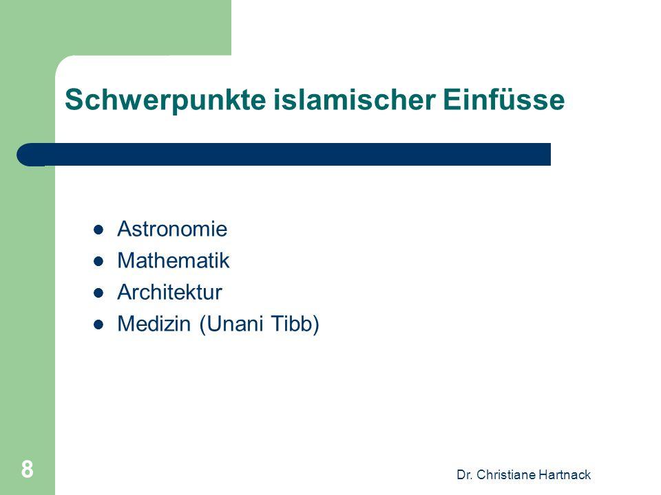 Schwerpunkte islamischer Einfüsse