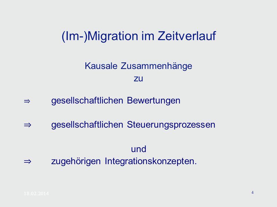(Im-)Migration im Zeitverlauf