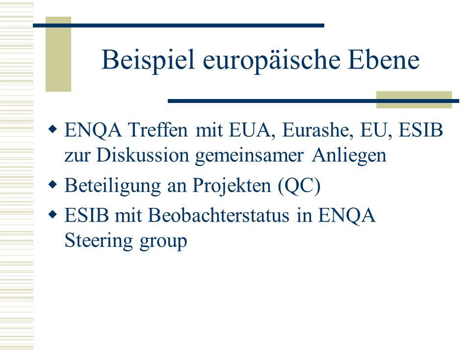 Beispiel europäische Ebene
