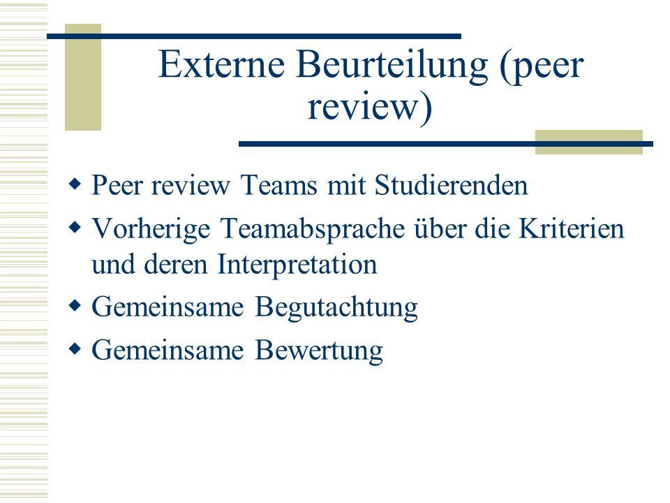 Externe Beurteilung (peer review)