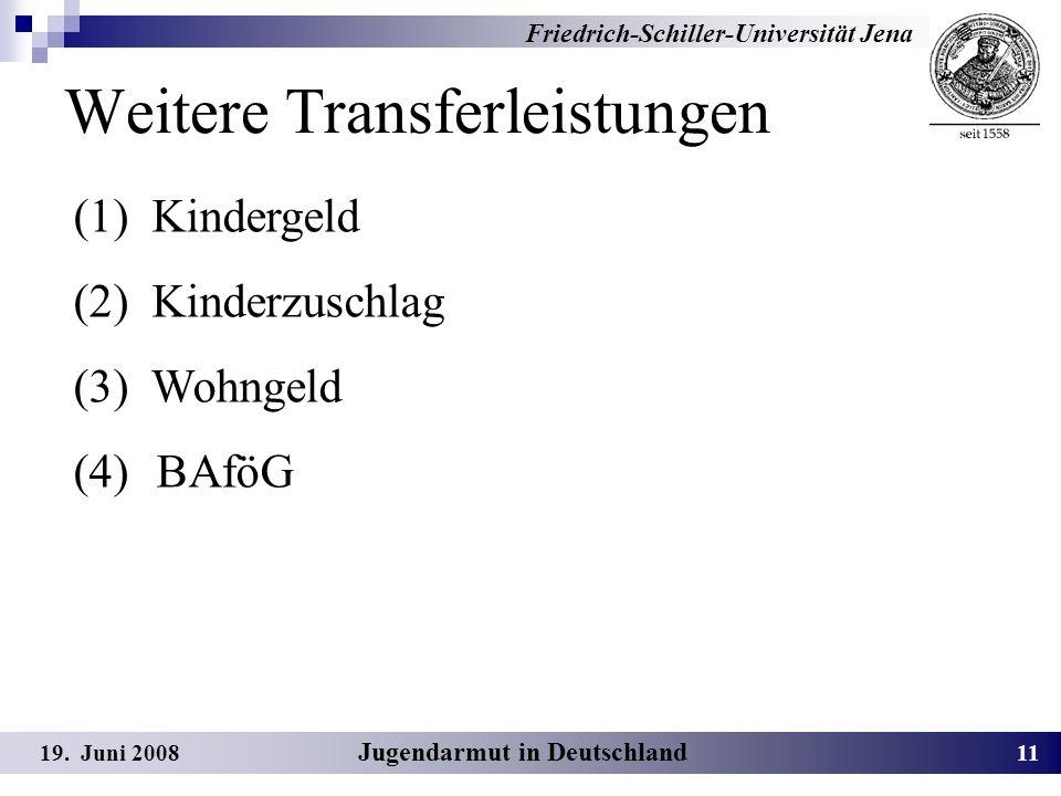 Weitere Transferleistungen