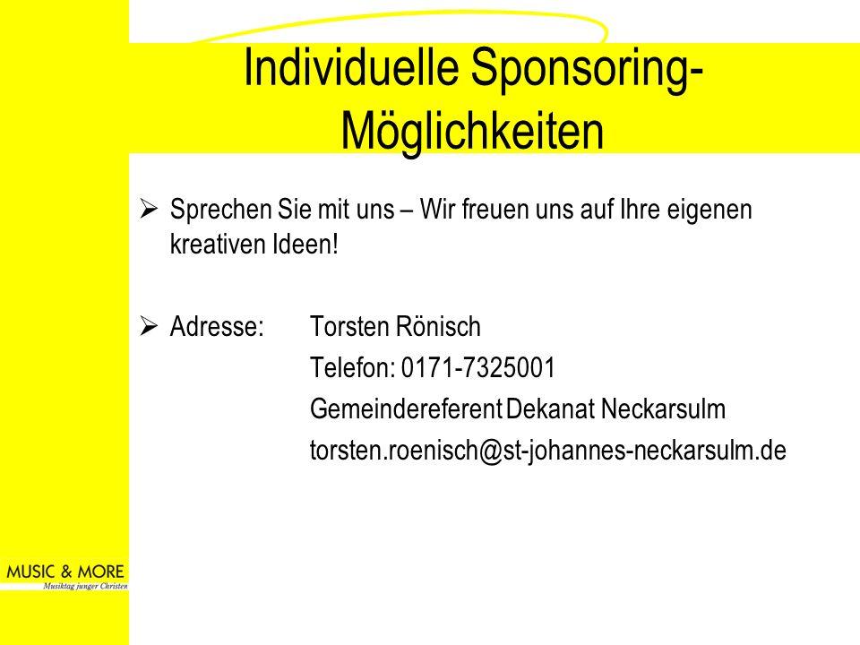 Individuelle Sponsoring-Möglichkeiten