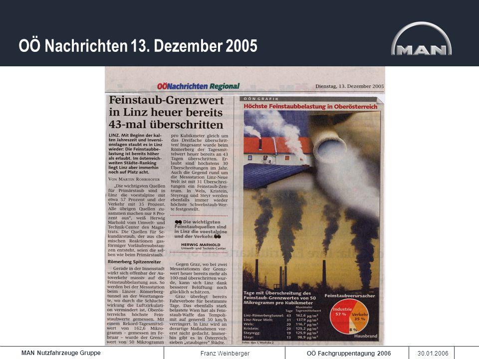 OÖ Nachrichten 13. Dezember 2005