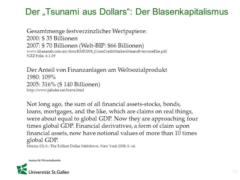"Der ""Tsunami aus Dollars : Der Blasenkapitalismus"