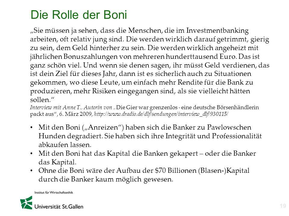 Die Rolle der Boni