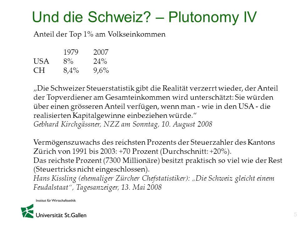 Und die Schweiz – Plutonomy IV