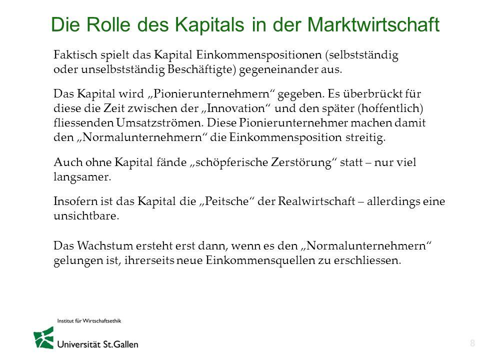 Die Rolle des Kapitals in der Marktwirtschaft