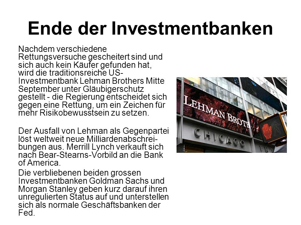 Ende der Investmentbanken