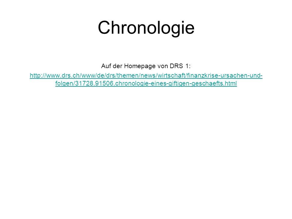 Auf der Homepage von DRS 1: