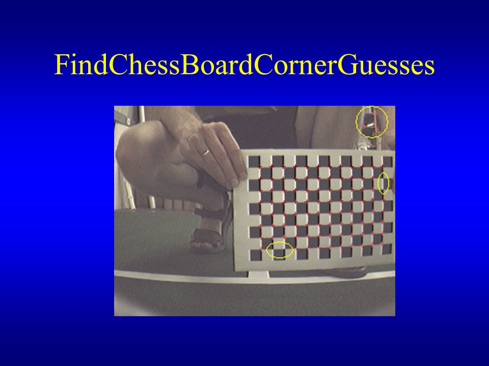 FindChessBoardCornerGuesses
