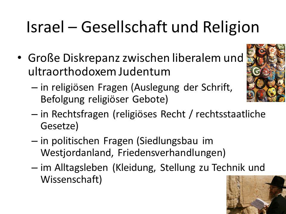 Israel – Gesellschaft und Religion
