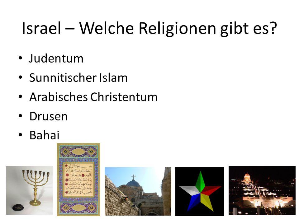 Israel – Welche Religionen gibt es