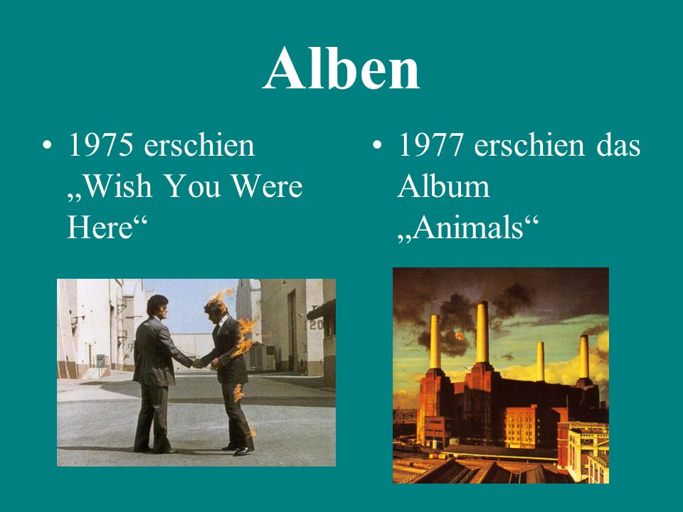 "Alben 1975 erschien ""Wish You Were Here"