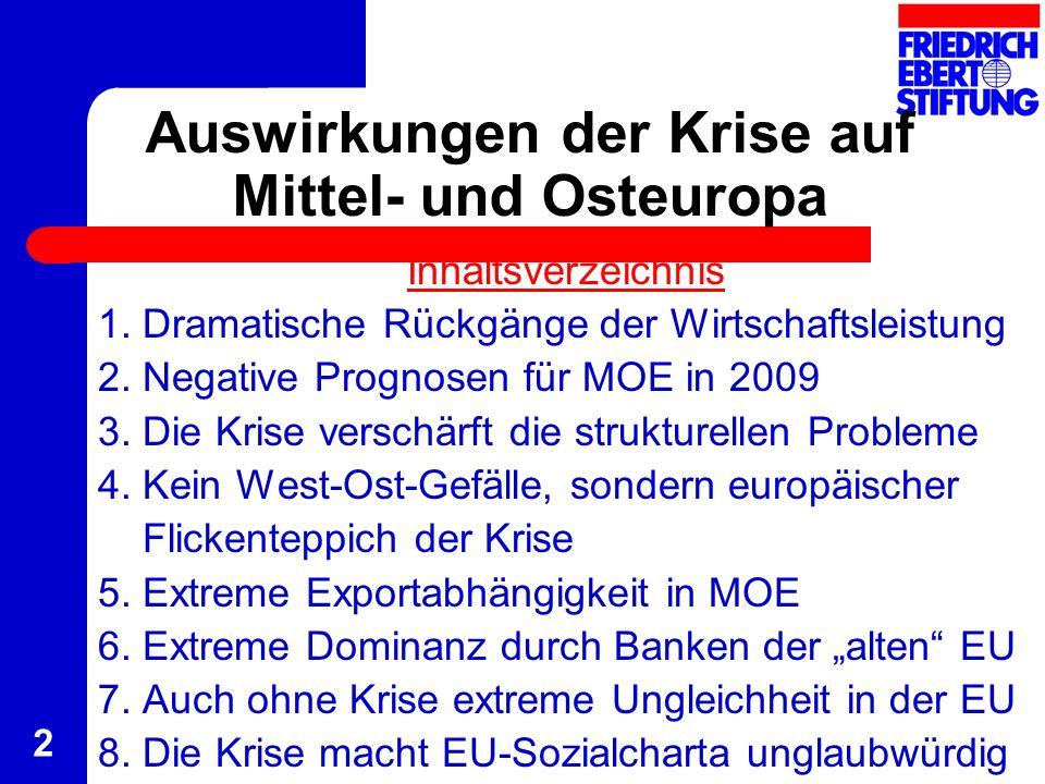 Auswirkungen der Krise auf Mittel- und Osteuropa