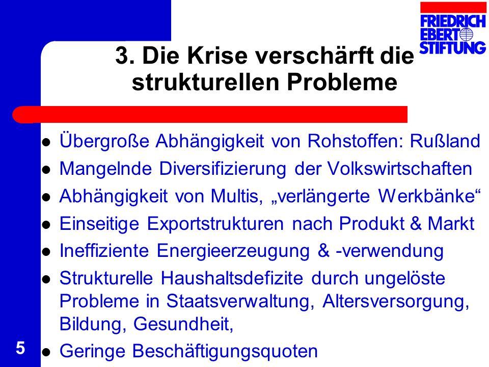 3. Die Krise verschärft die strukturellen Probleme
