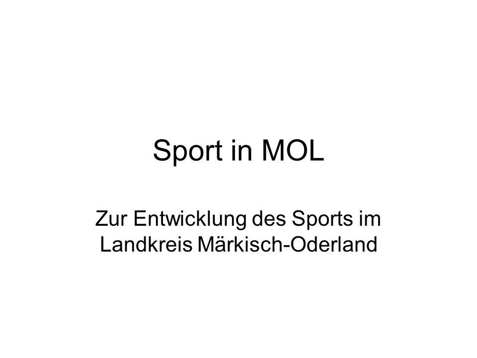 Zur Entwicklung des Sports im Landkreis Märkisch-Oderland