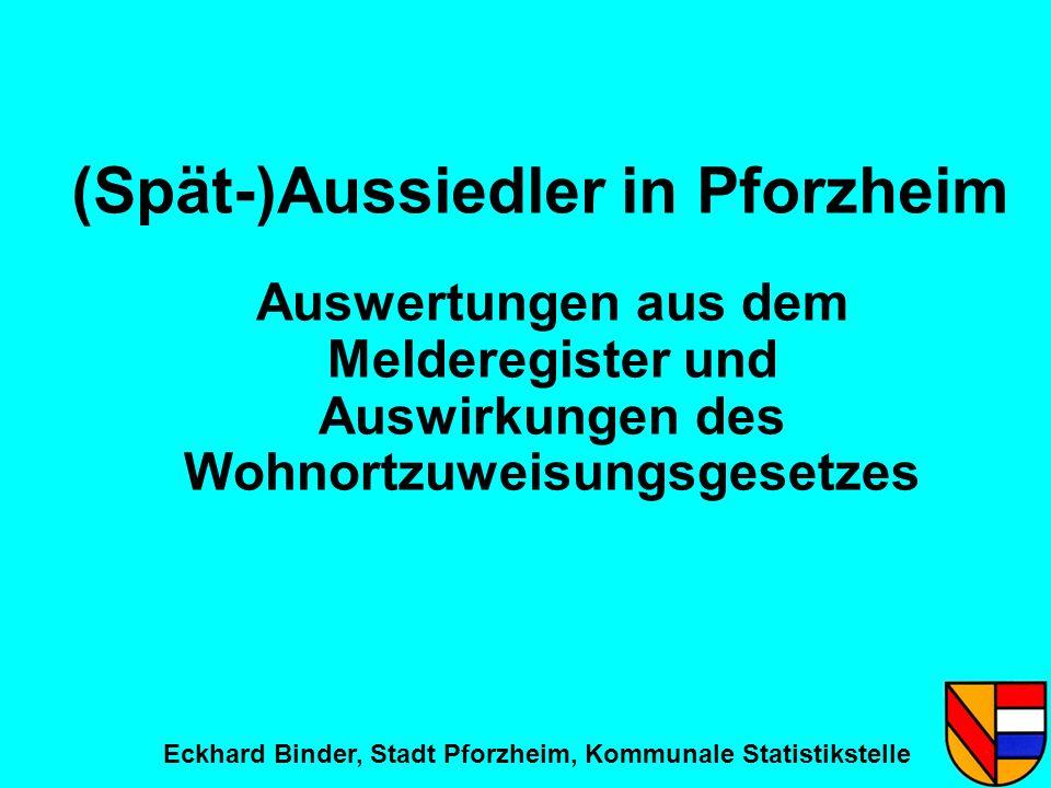 (Spät-)Aussiedler in Pforzheim