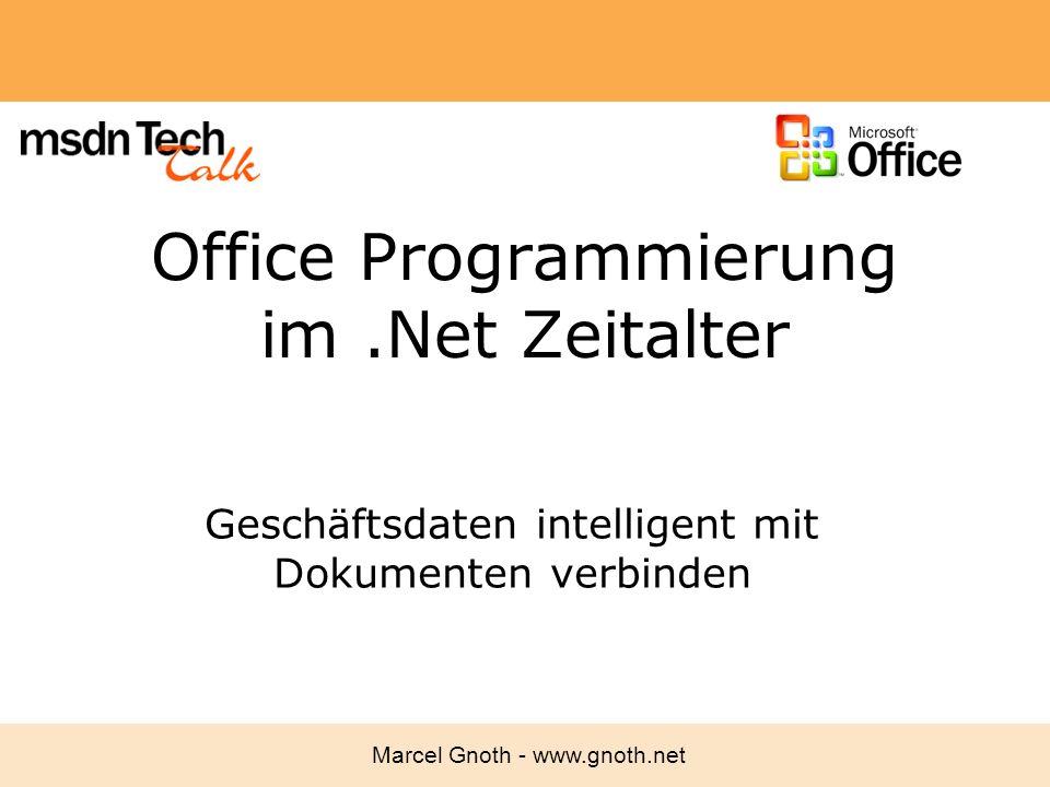 Office Programmierung im .Net Zeitalter