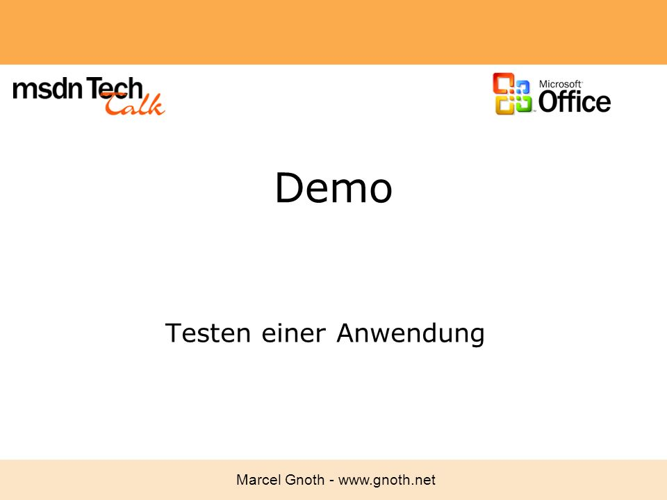 Testen einer Anwendung