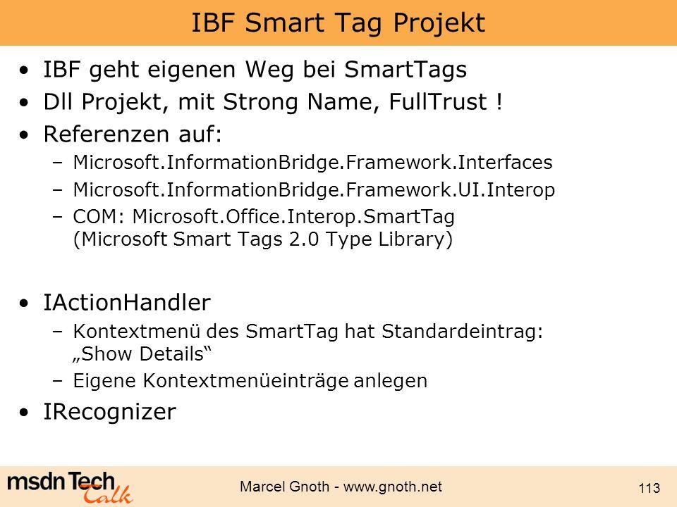 IBF Smart Tag Projekt IBF geht eigenen Weg bei SmartTags
