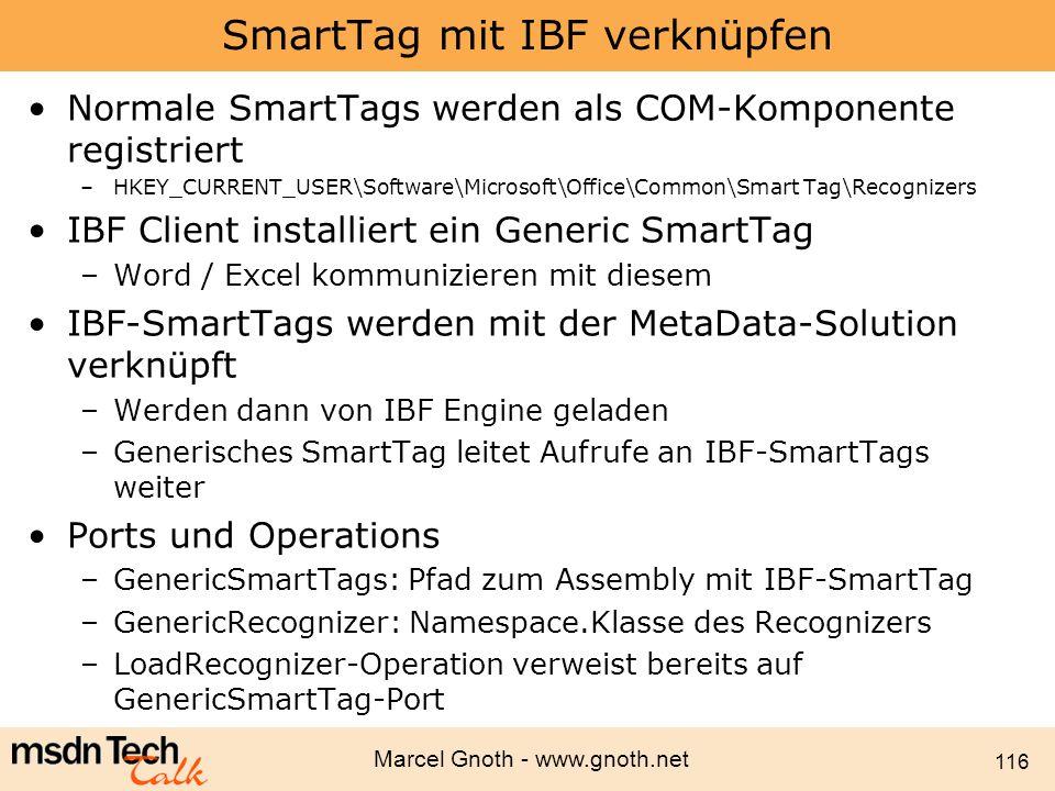 SmartTag mit IBF verknüpfen