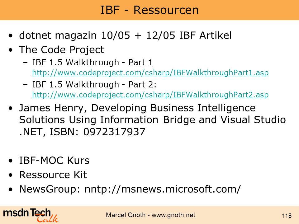 IBF - Ressourcen dotnet magazin 10/05 + 12/05 IBF Artikel