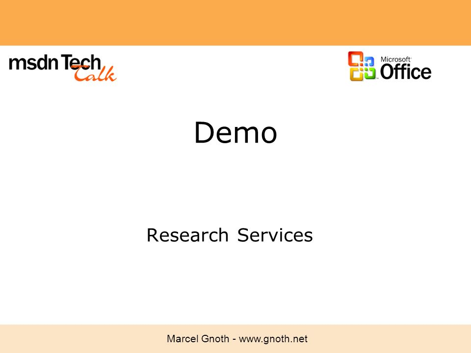 Demo Research Services